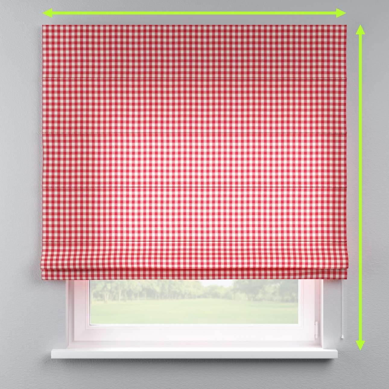 Lined roman blind in collection Quadro, fabric: 136-16