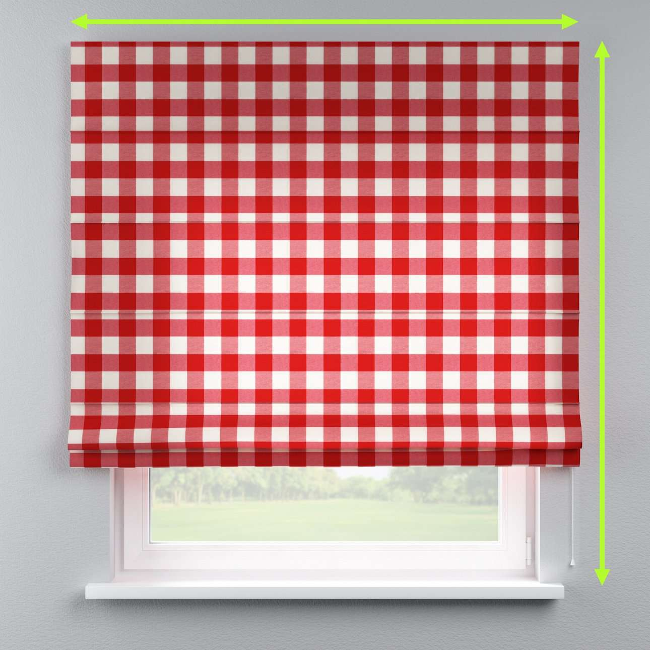 Lined roman blind in collection Quadro, fabric: 136-18