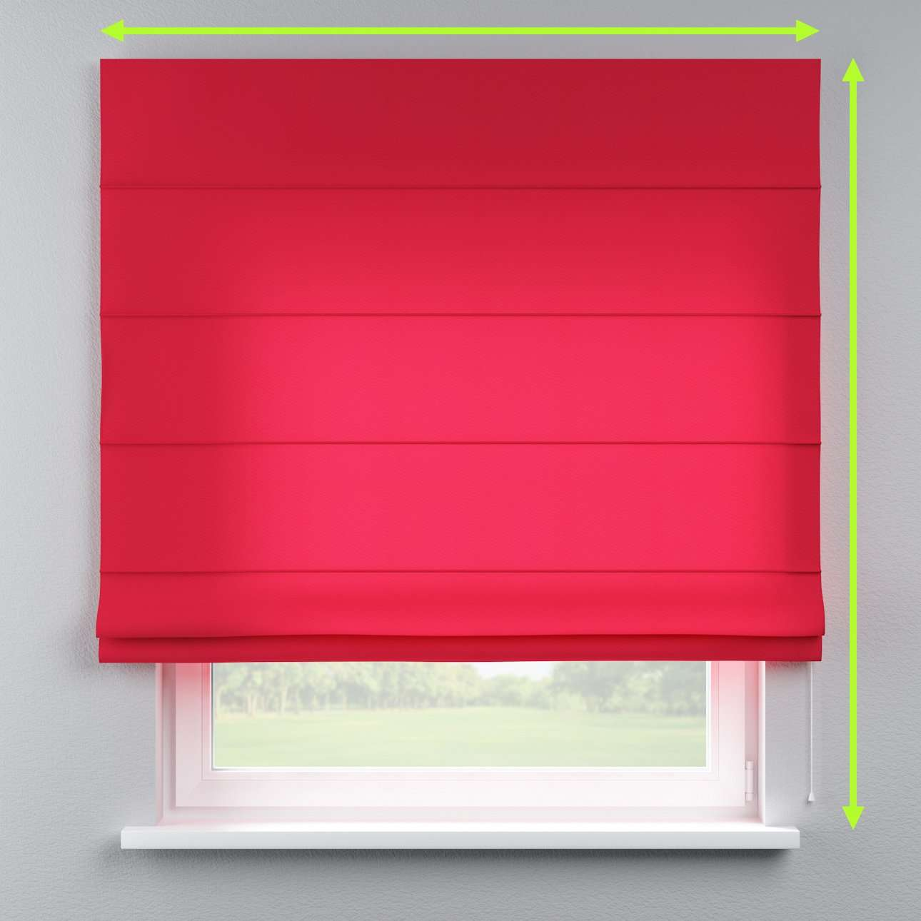 Lined roman blind in collection Quadro, fabric: 136-19