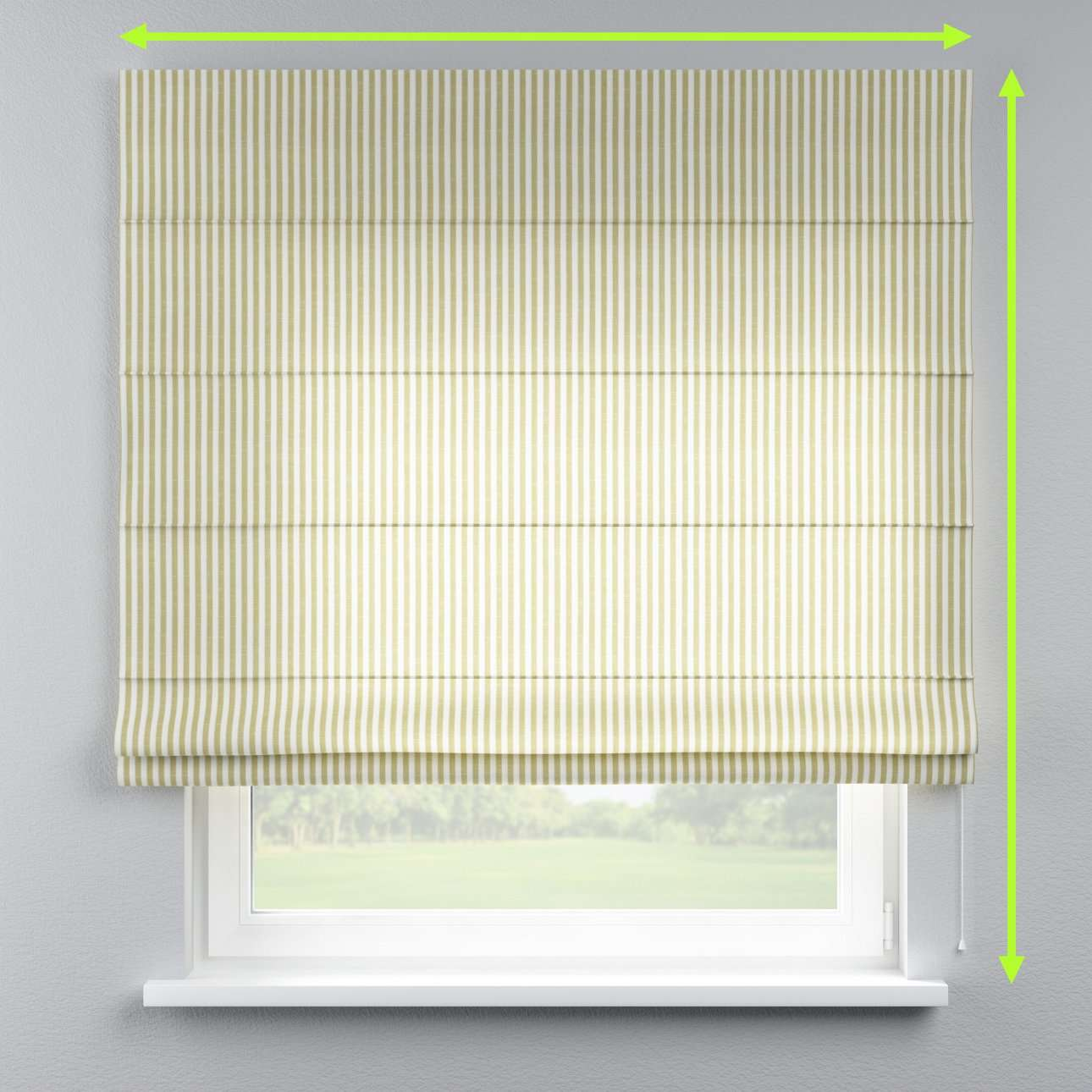 Lined roman blind in collection Cardiff, fabric: 136-21