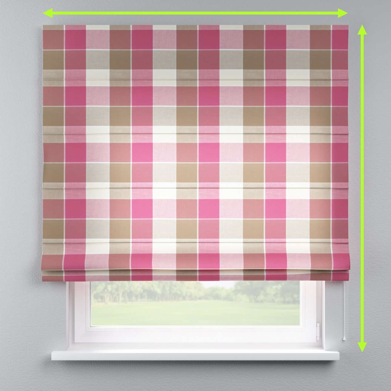Lined roman blind in collection Cardiff, fabric: 136-31
