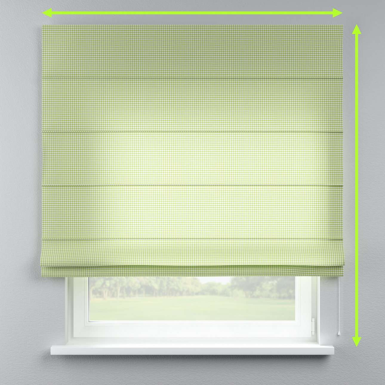 Lined roman blind in collection Quadro, fabric: 136-33