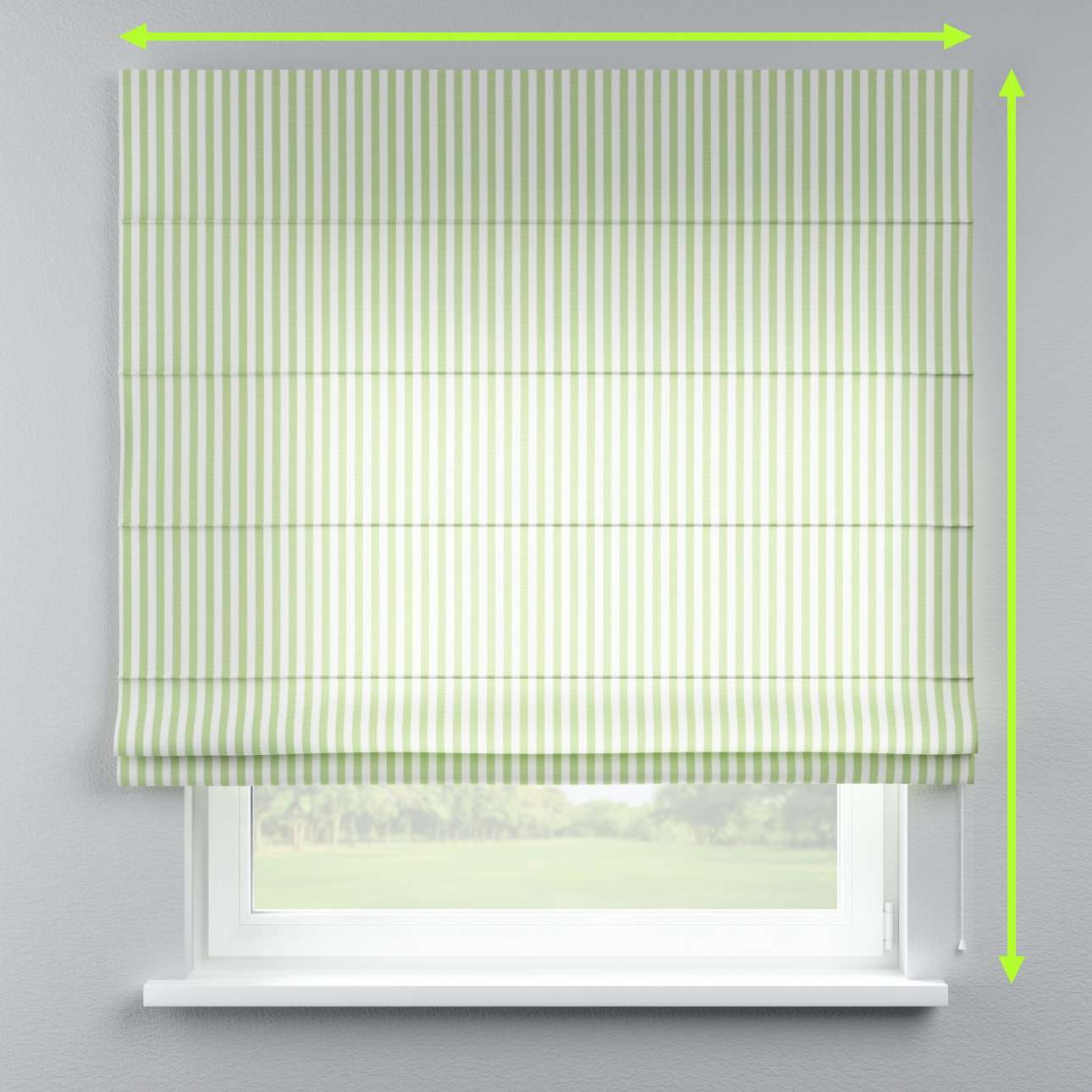 Lined roman blind in collection Quadro, fabric: 136-35