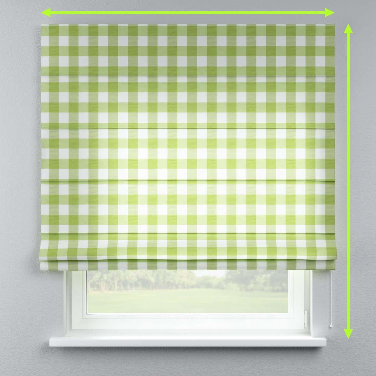 Lined roman blind in collection Quadro, fabric: 136-36