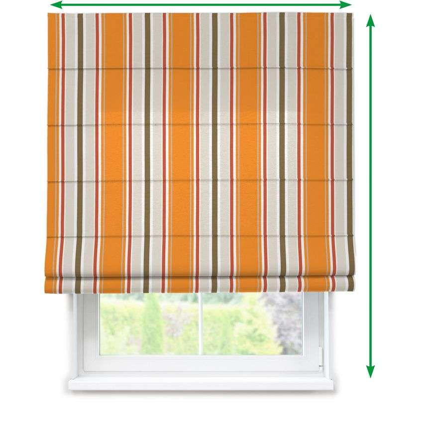 Lined roman blind in collection Fleur , fabric: 137-25