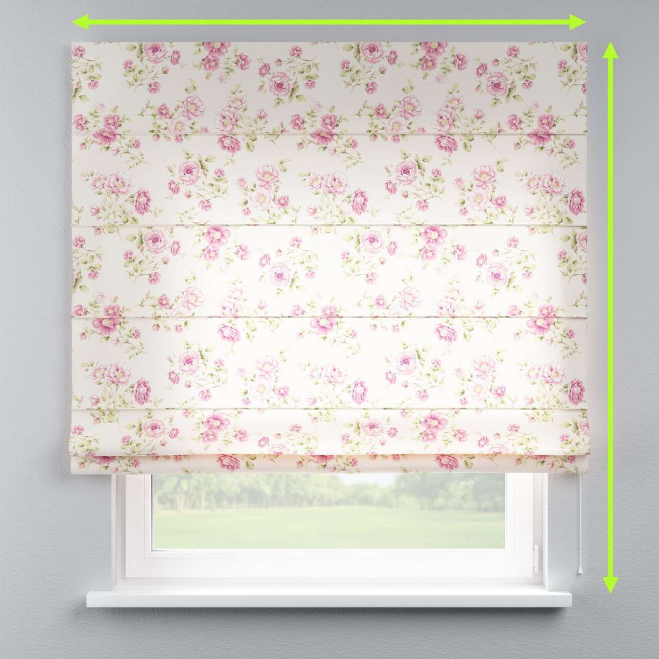 Lined roman blind in collection Ashley, fabric: 137-43
