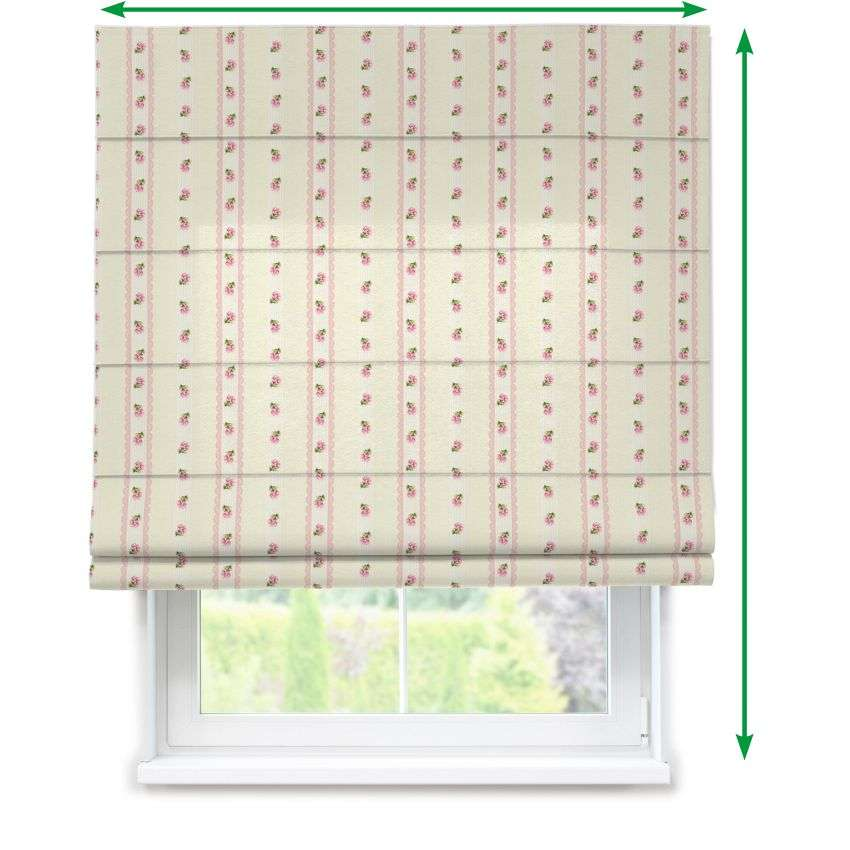 Lined roman blind in collection Ashley, fabric: 137-44