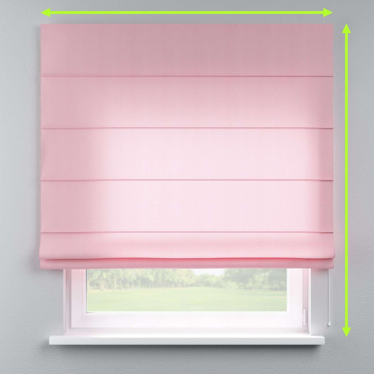 Lined roman blind in collection Ashley, fabric: 137-46