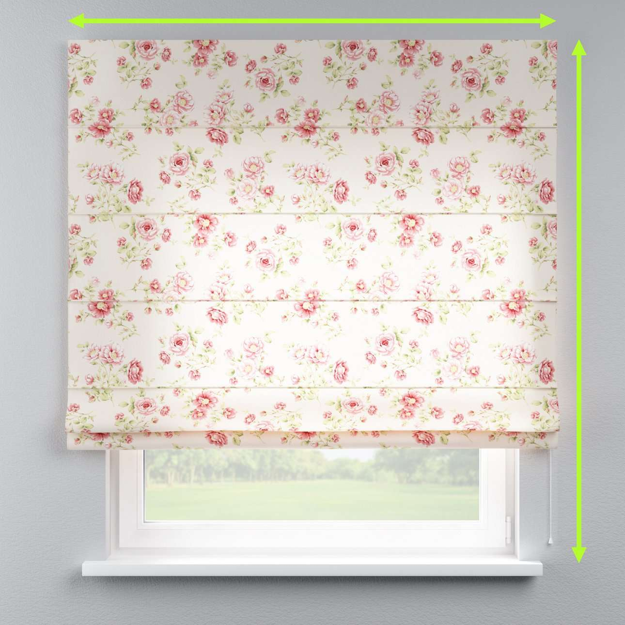 Lined roman blind in collection Ashley, fabric: 137-47