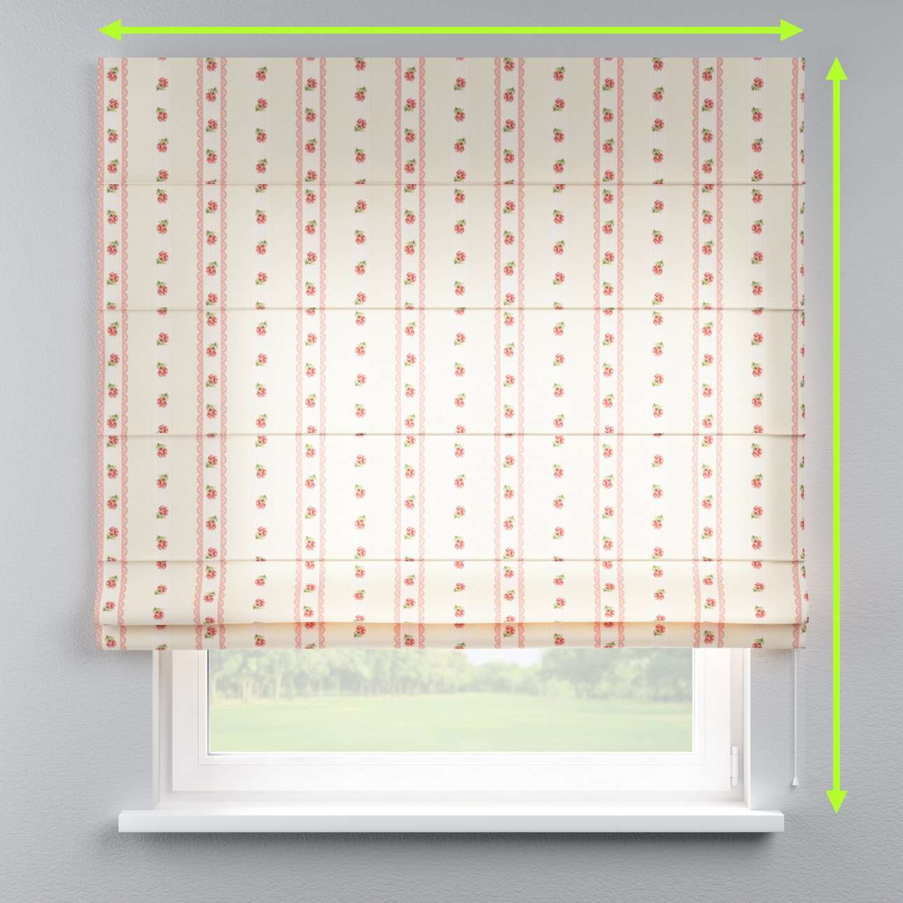 Lined roman blind in collection Ashley, fabric: 137-48