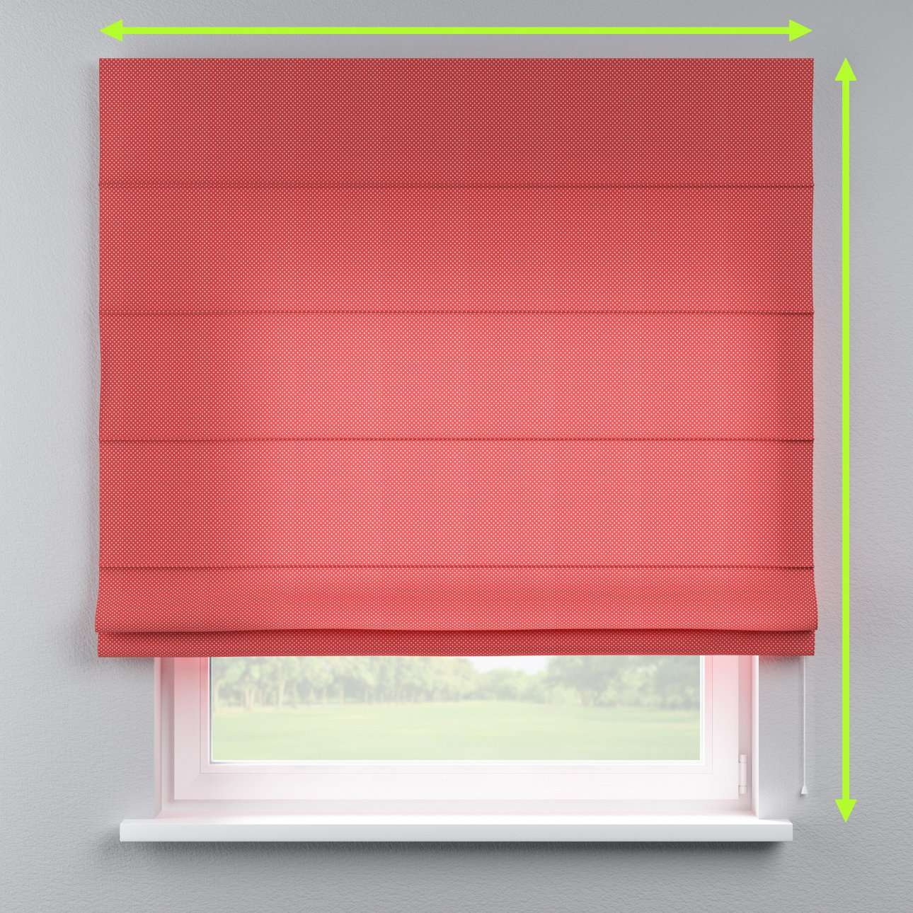 Lined roman blind in collection Ashley, fabric: 137-50