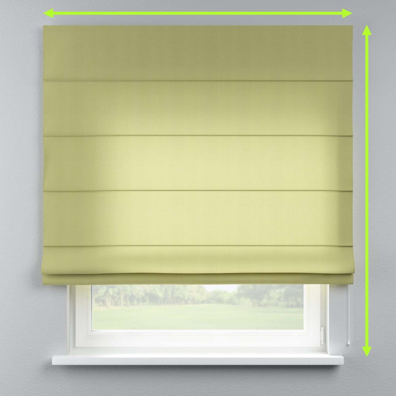 Lined roman blind in collection Ashley, fabric: 137-51