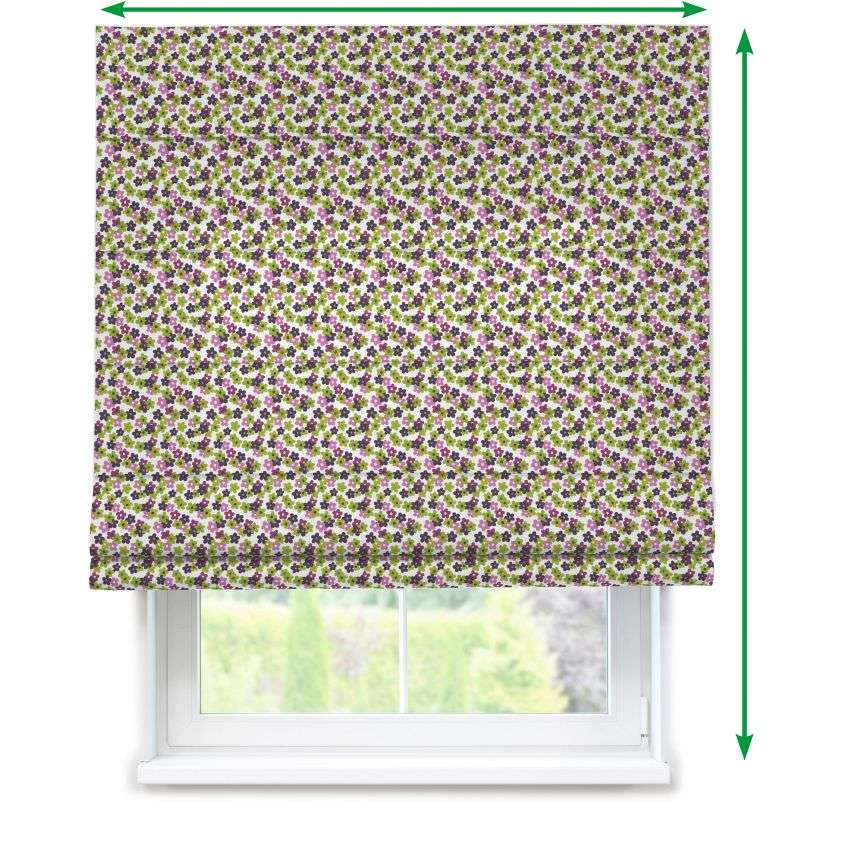 Lined roman blind in collection Fleur , fabric: 137-55