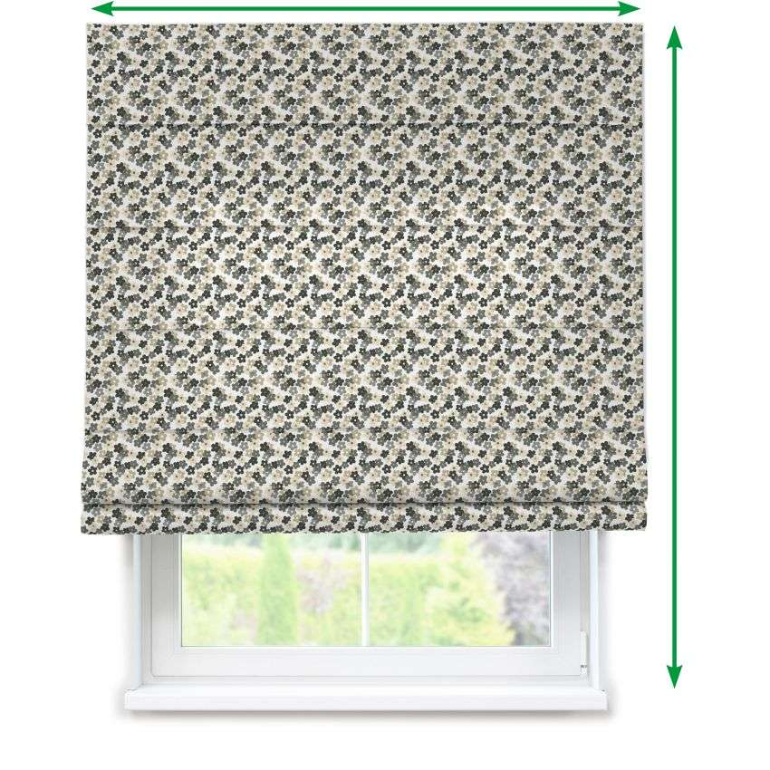 Lined roman blind in collection Fleur , fabric: 137-57