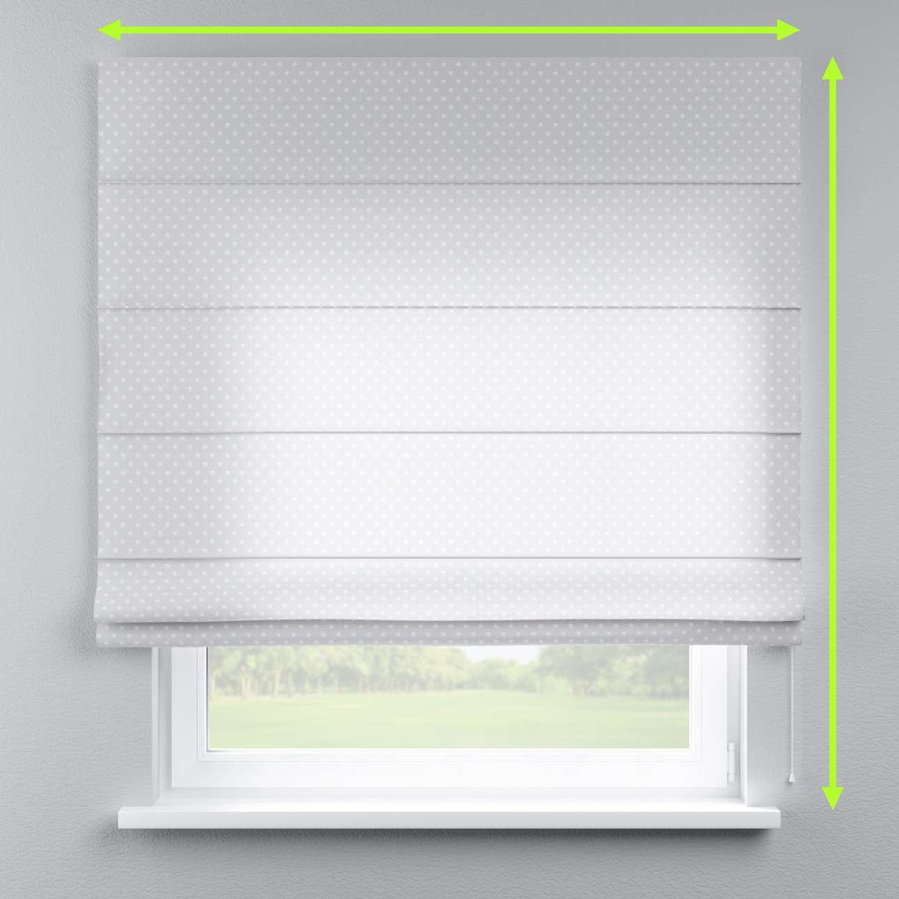 Lined roman blind in collection Ashley, fabric: 137-67