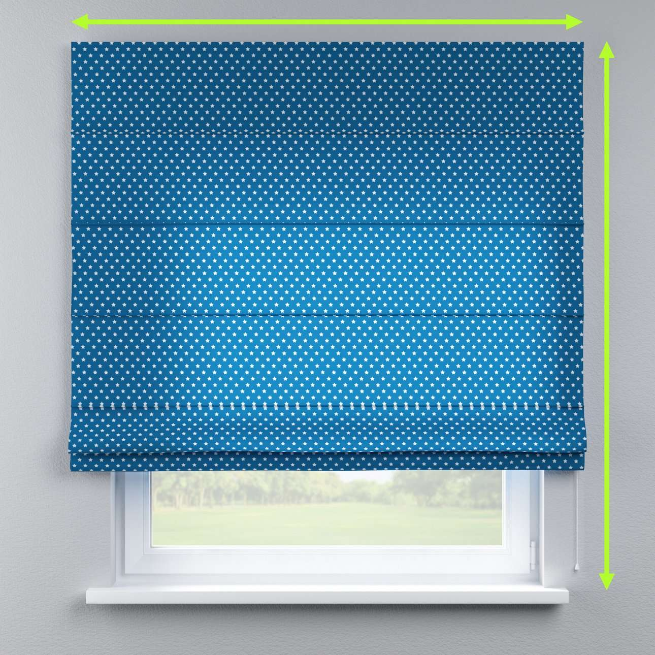Lined roman blind in collection Ashley, fabric: 137-72