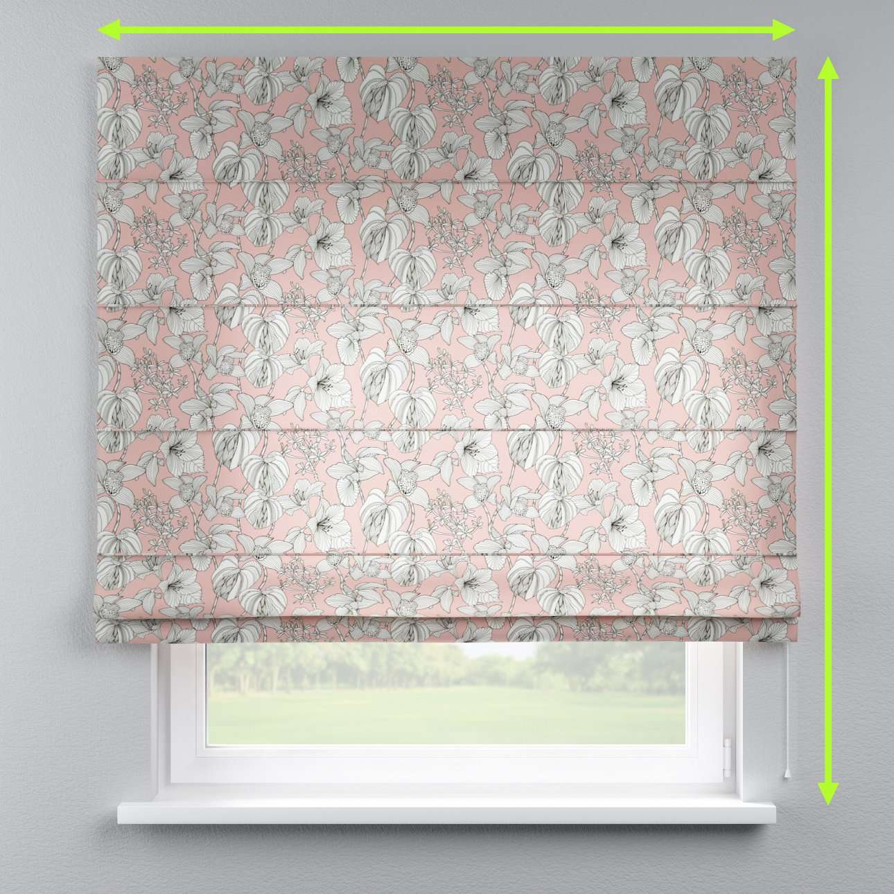 Lined roman blind in collection Brooklyn, fabric: 137-74