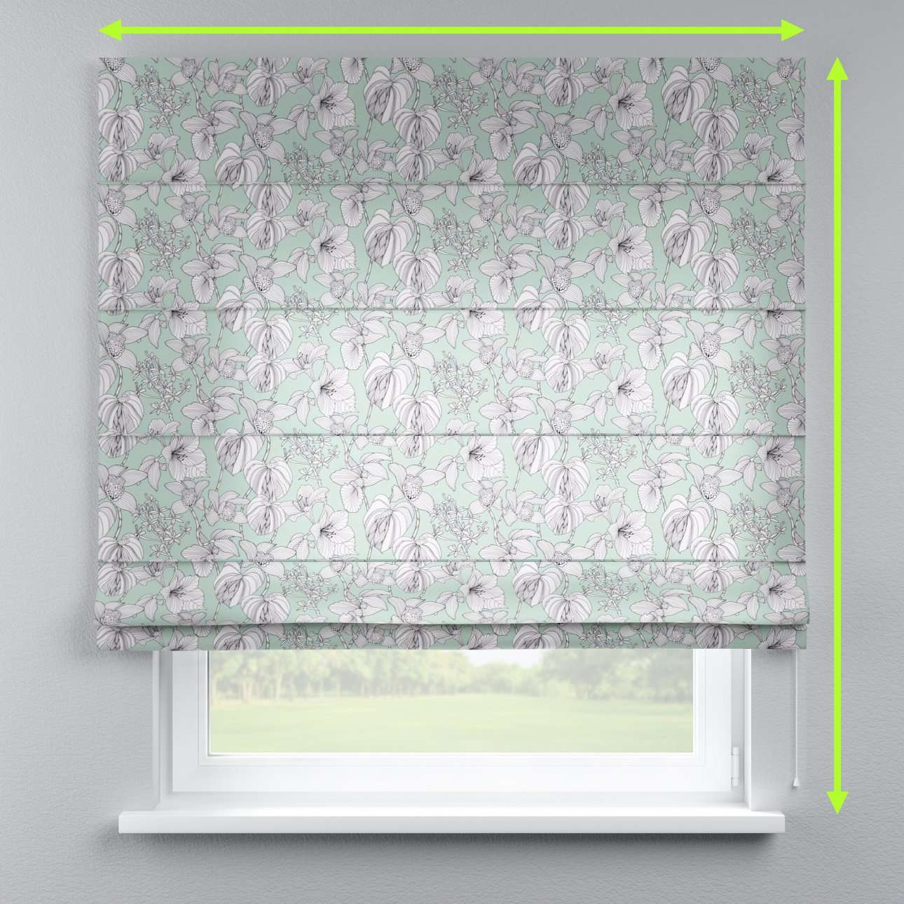 Lined roman blind in collection Brooklyn, fabric: 137-76