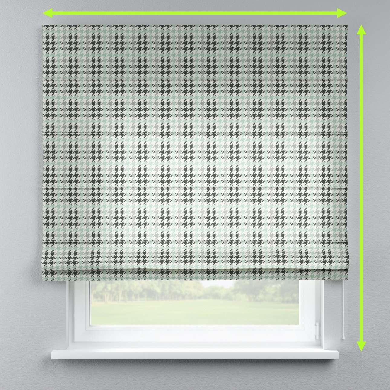 Lined roman blind in collection Brooklyn, fabric: 137-77