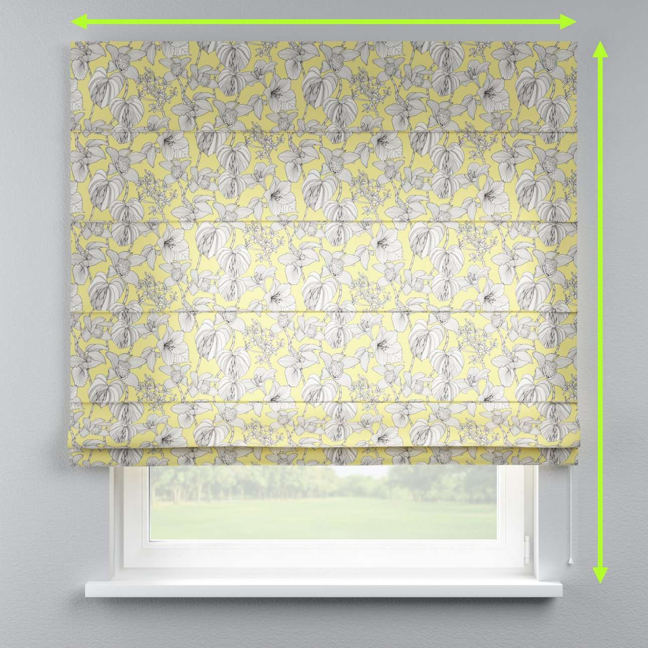 Lined roman blind in collection Brooklyn, fabric: 137-78