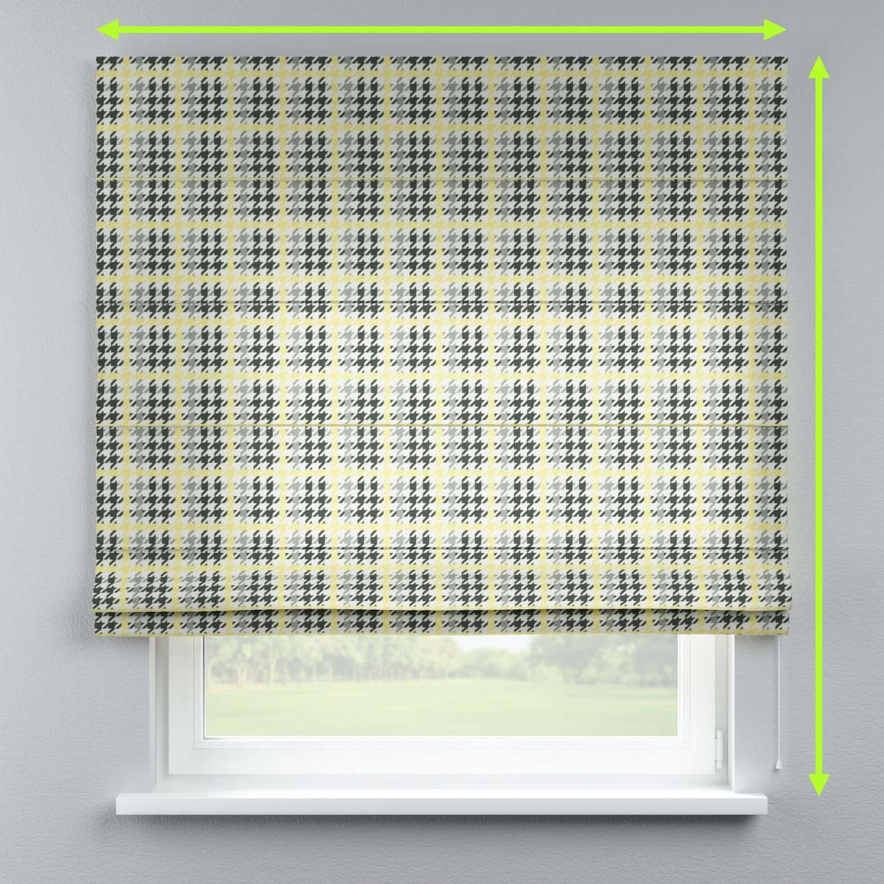 Lined roman blind in collection Brooklyn, fabric: 137-79
