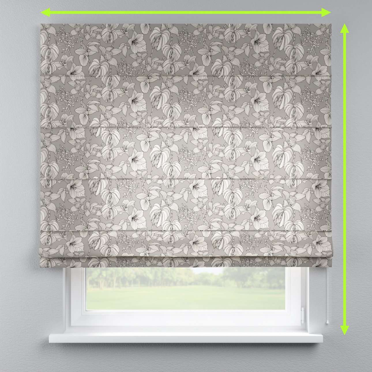 Lined roman blind in collection Brooklyn, fabric: 137-80