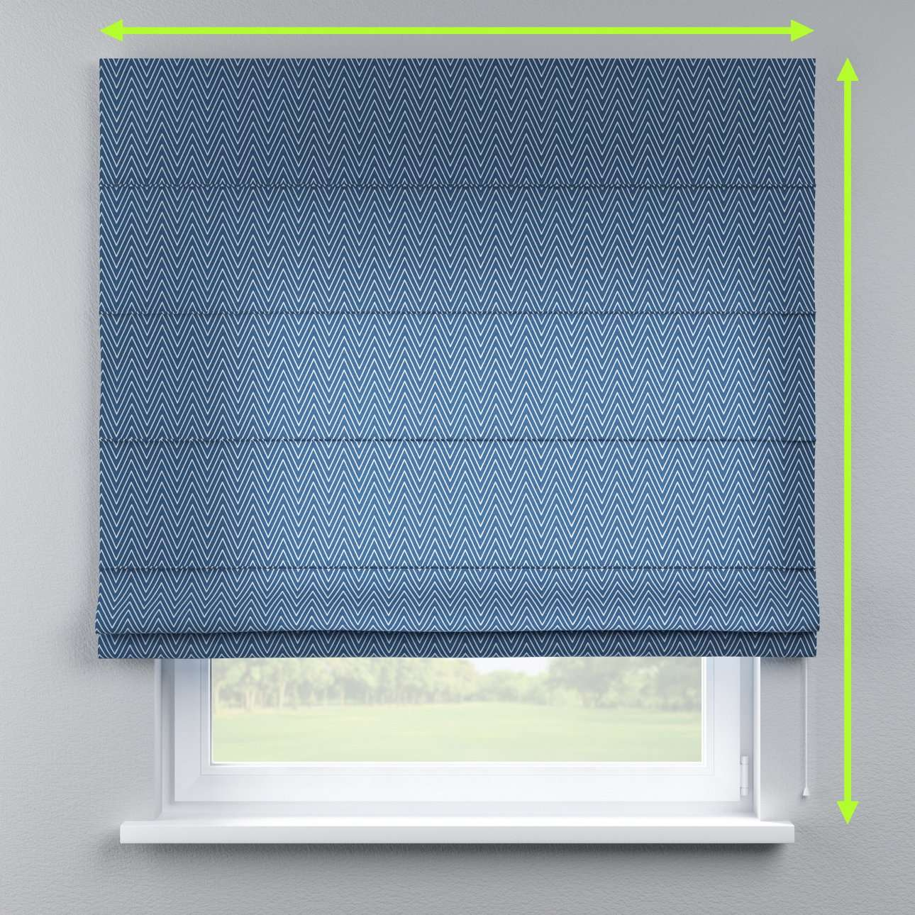 Lined roman blind in collection Brooklyn, fabric: 137-88
