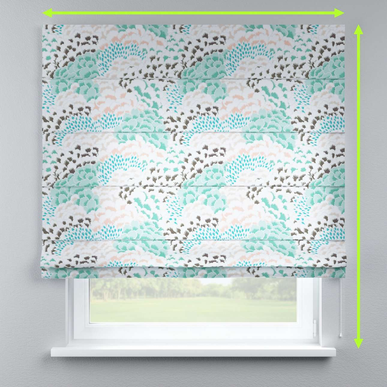 Lined roman blind in collection Brooklyn, fabric: 137-89