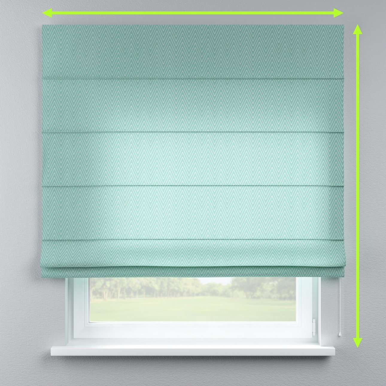Lined roman blind in collection Brooklyn, fabric: 137-90