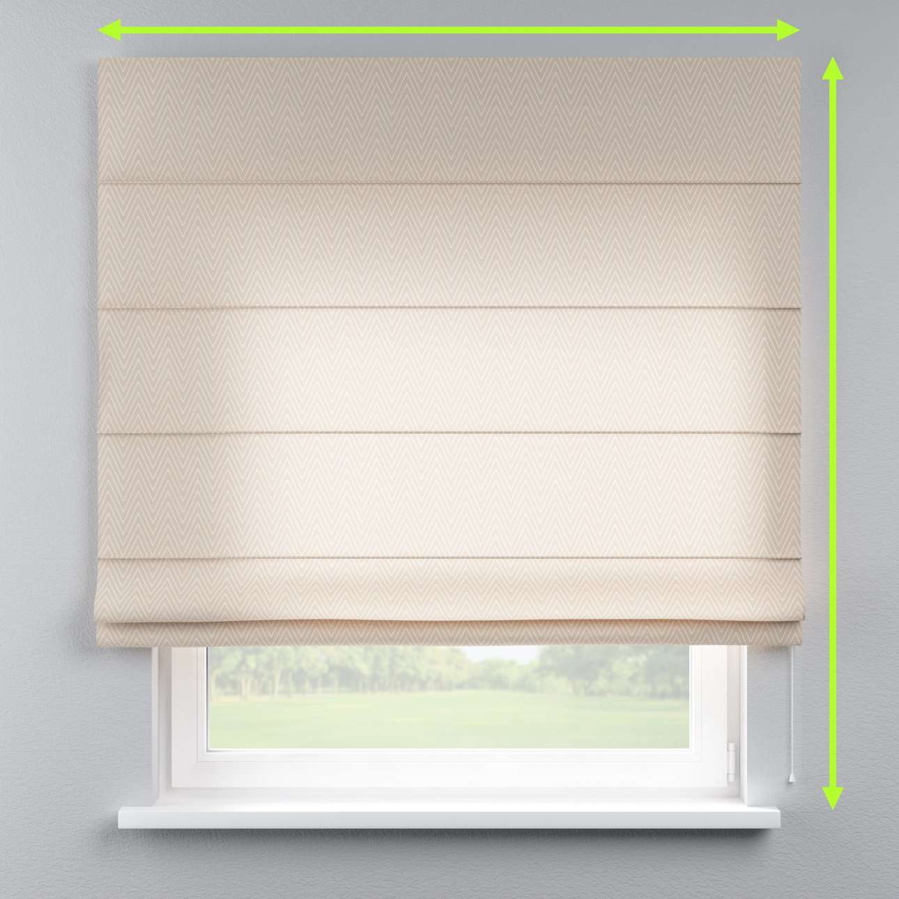 Lined roman blind in collection Brooklyn, fabric: 137-91