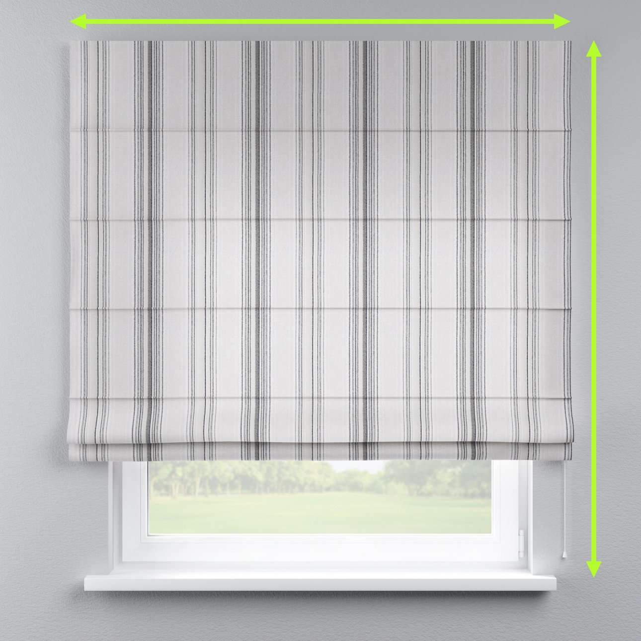 Lined roman blind in collection Rustica, fabric: 138-15