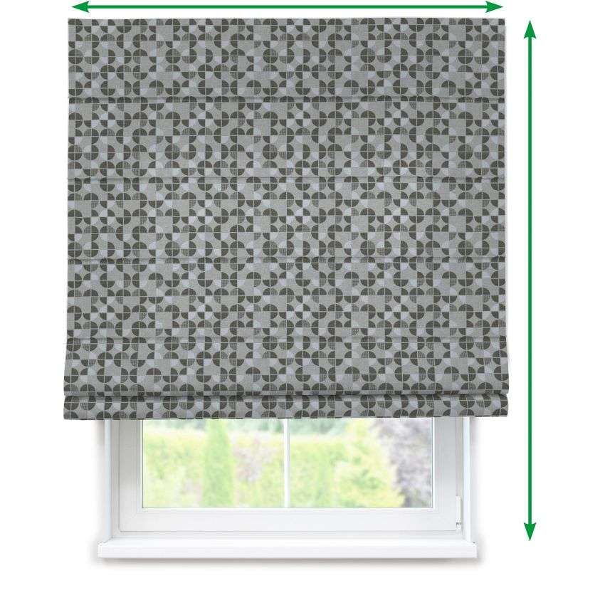Lined roman blind in collection Rustica, fabric: 138-20