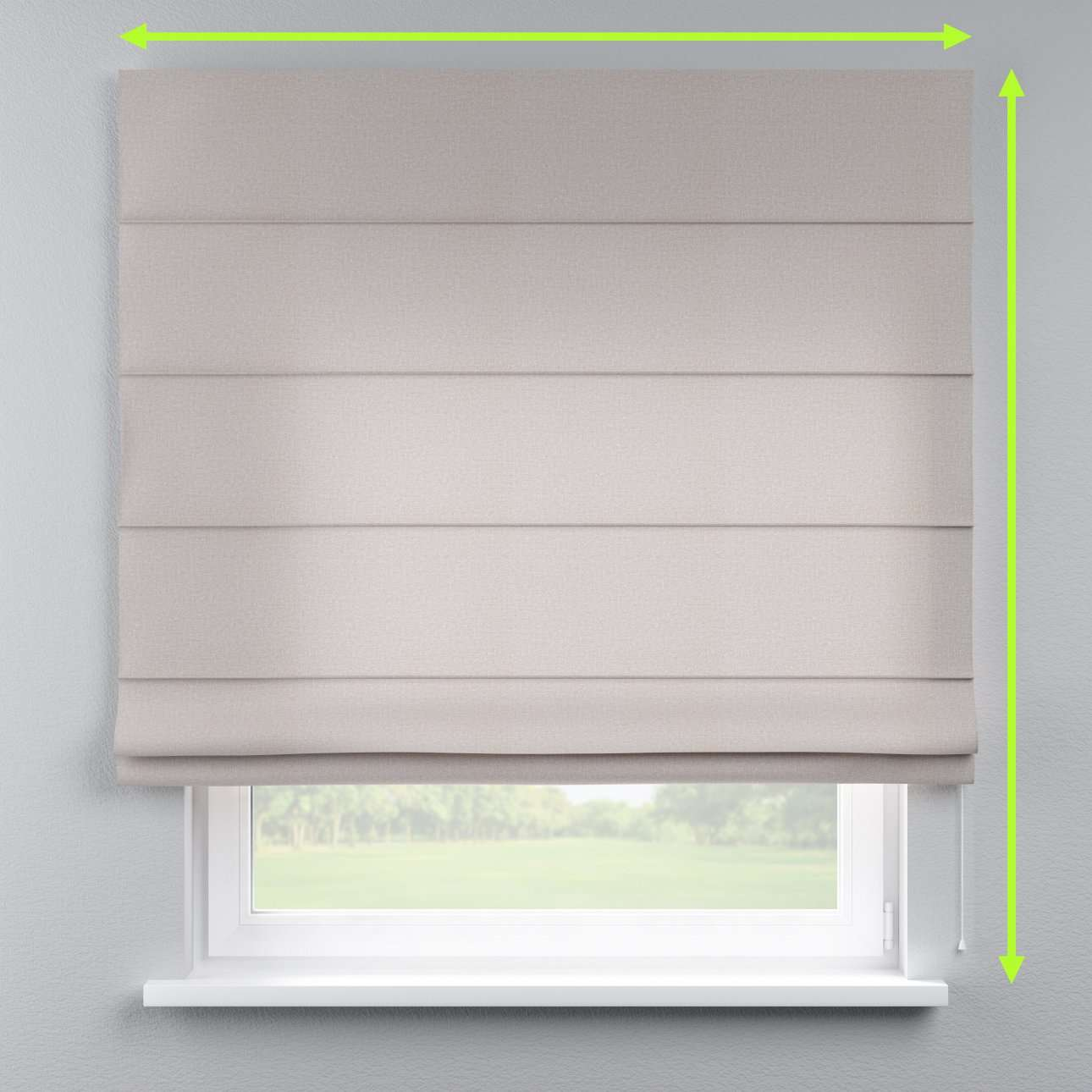 Lined roman blind in collection Rustica, fabric: 138-22