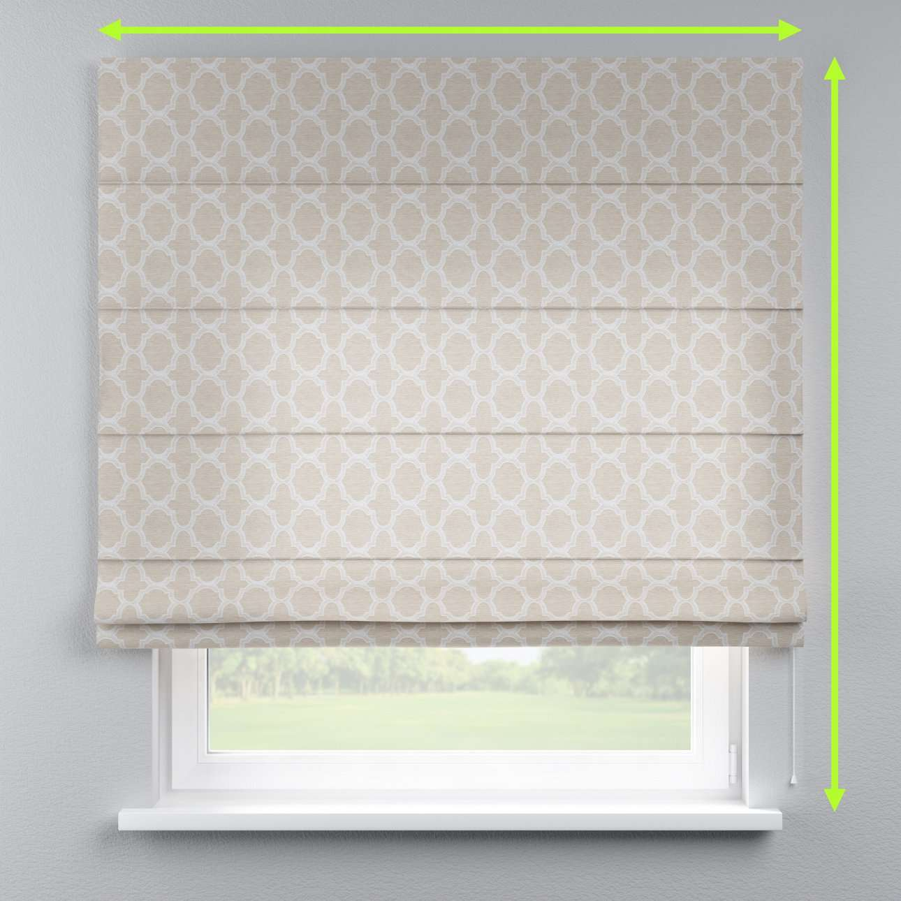 Lined roman blind in collection Rustica, fabric: 138-25