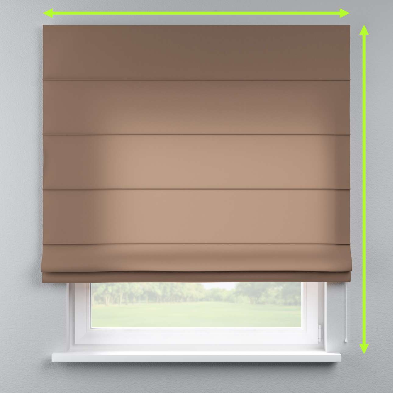 Lined roman blind in collection Fleur , fabric: 139-15