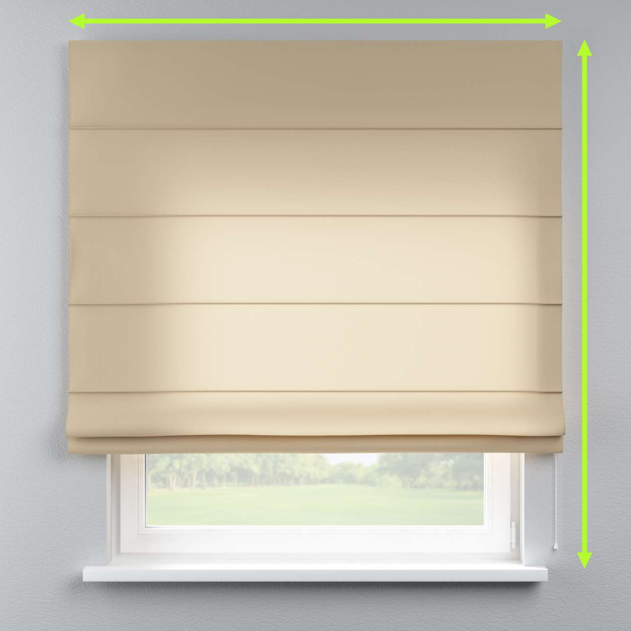 Lined roman blind in collection Fleur , fabric: 139-52