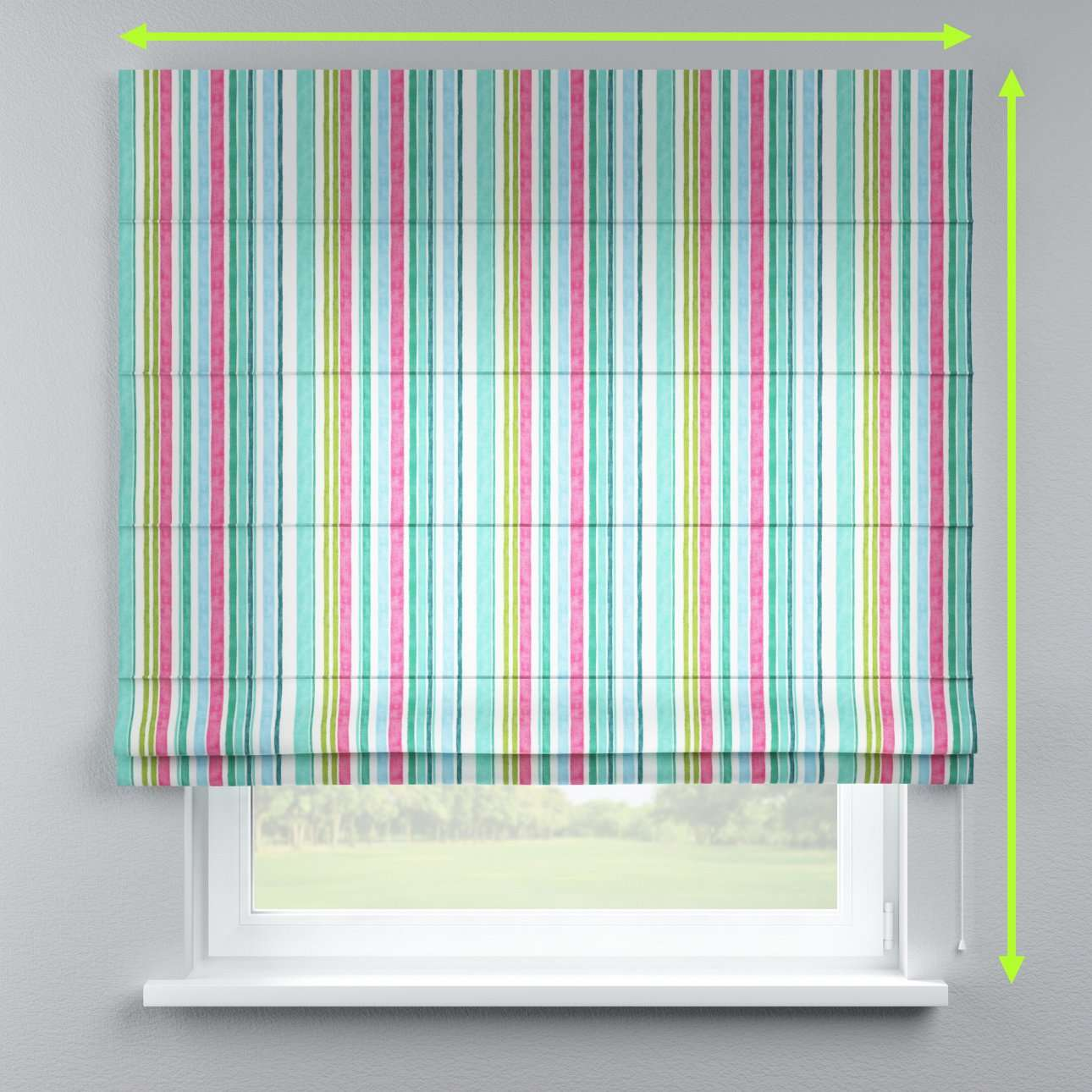 Lined roman blind in collection Monet, fabric: 140-03