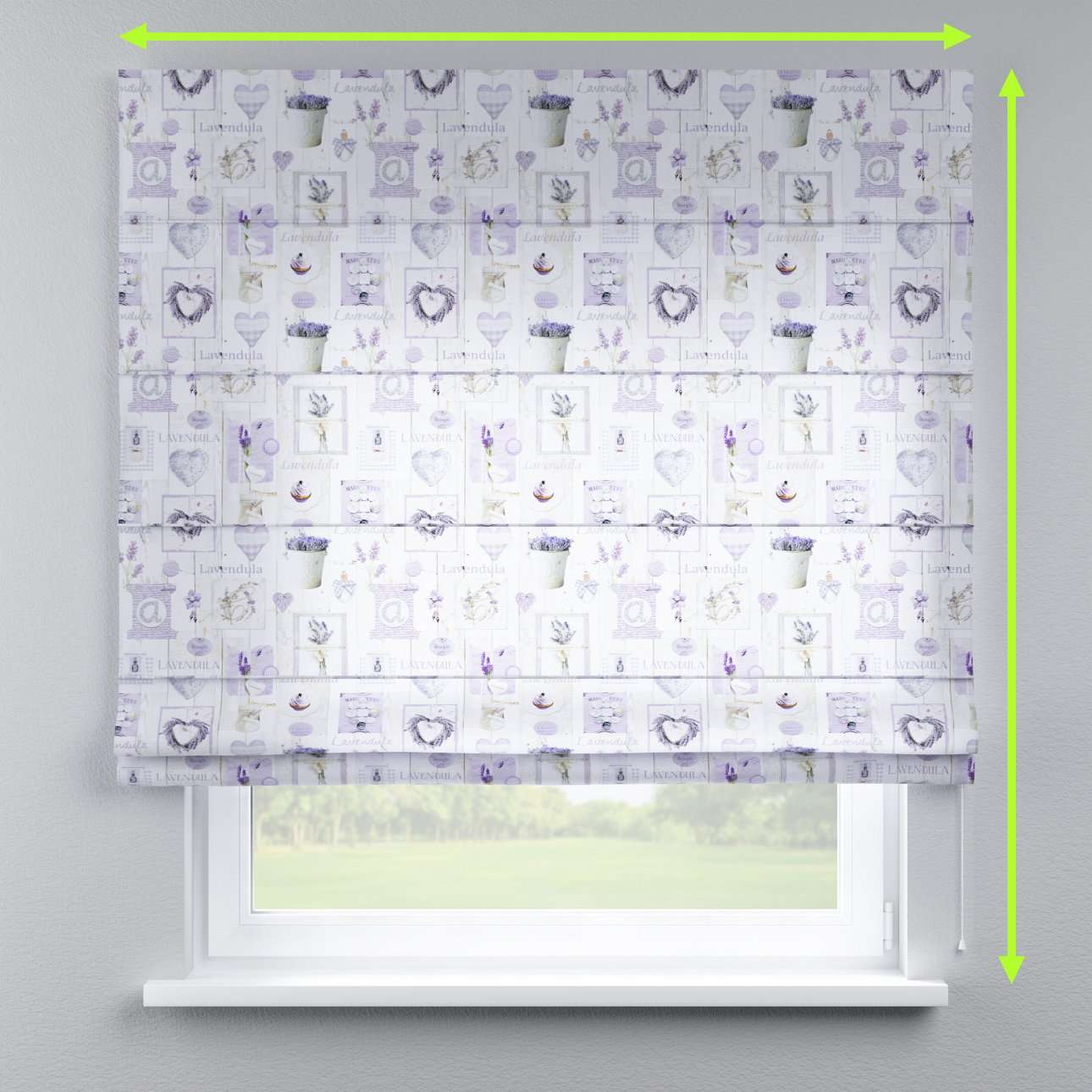 Lined roman blind in collection Ashley, fabric: 140-18
