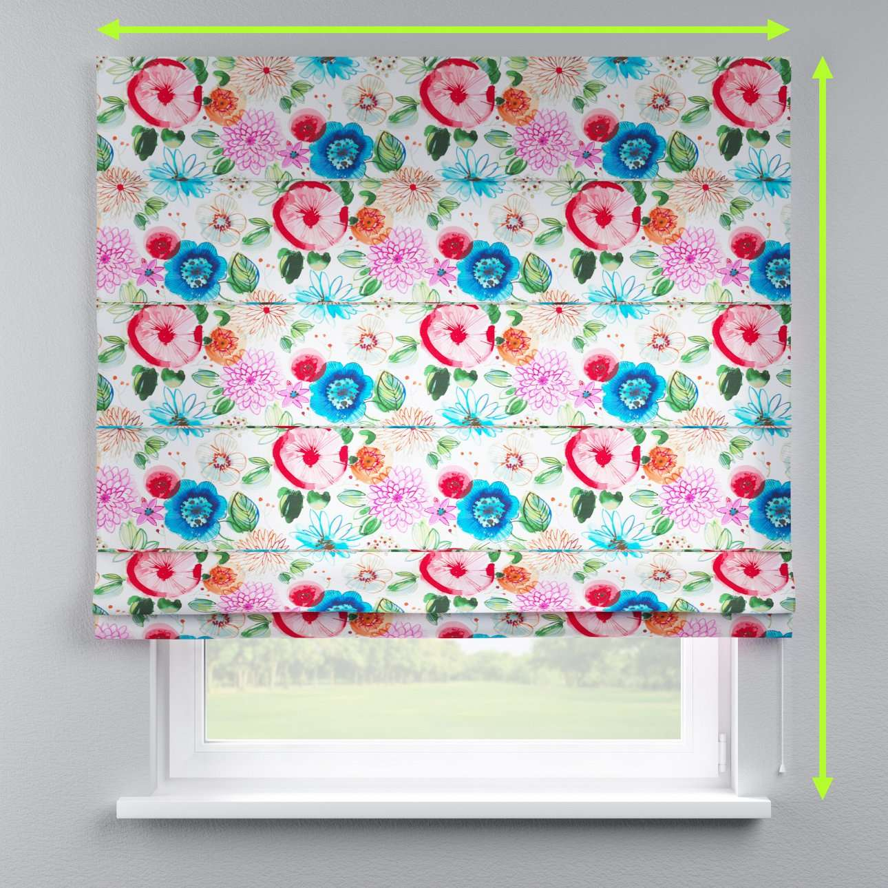 Lined roman blind in collection New Art, fabric: 140-24