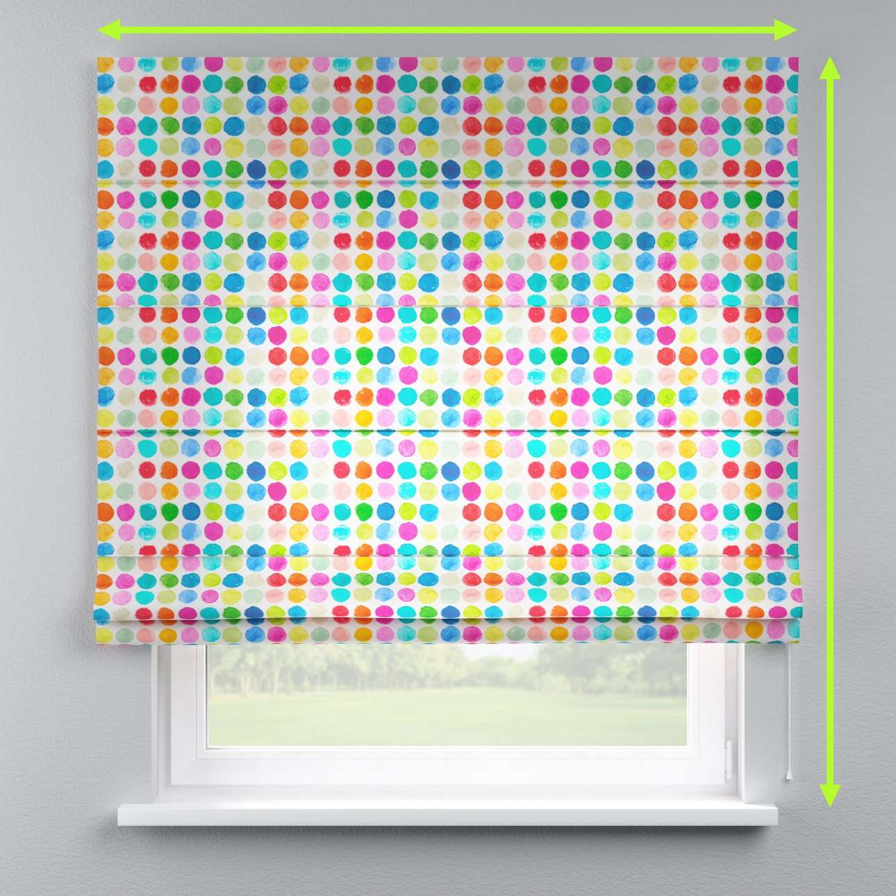 Lined roman blind in collection New Art, fabric: 140-26