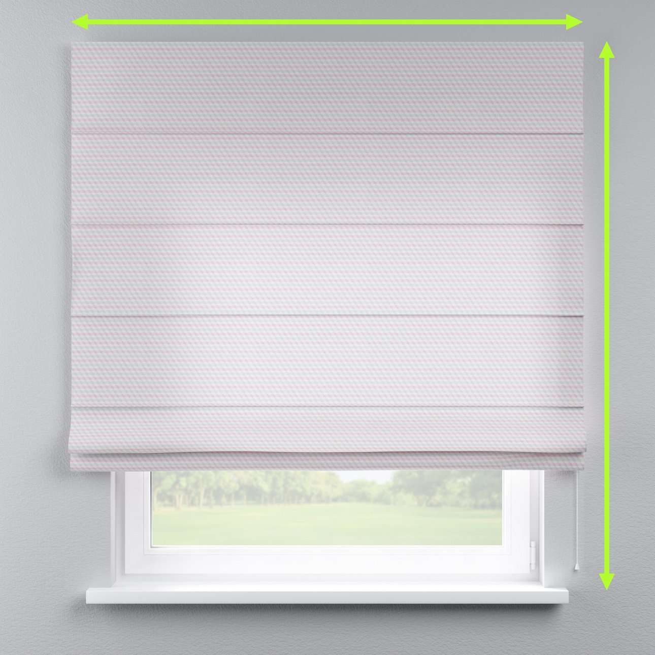 Lined roman blind in collection Rustica, fabric: 140-30