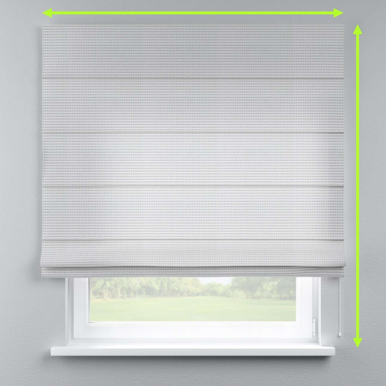 Lined roman blind in collection Rustica, fabric: 140-31
