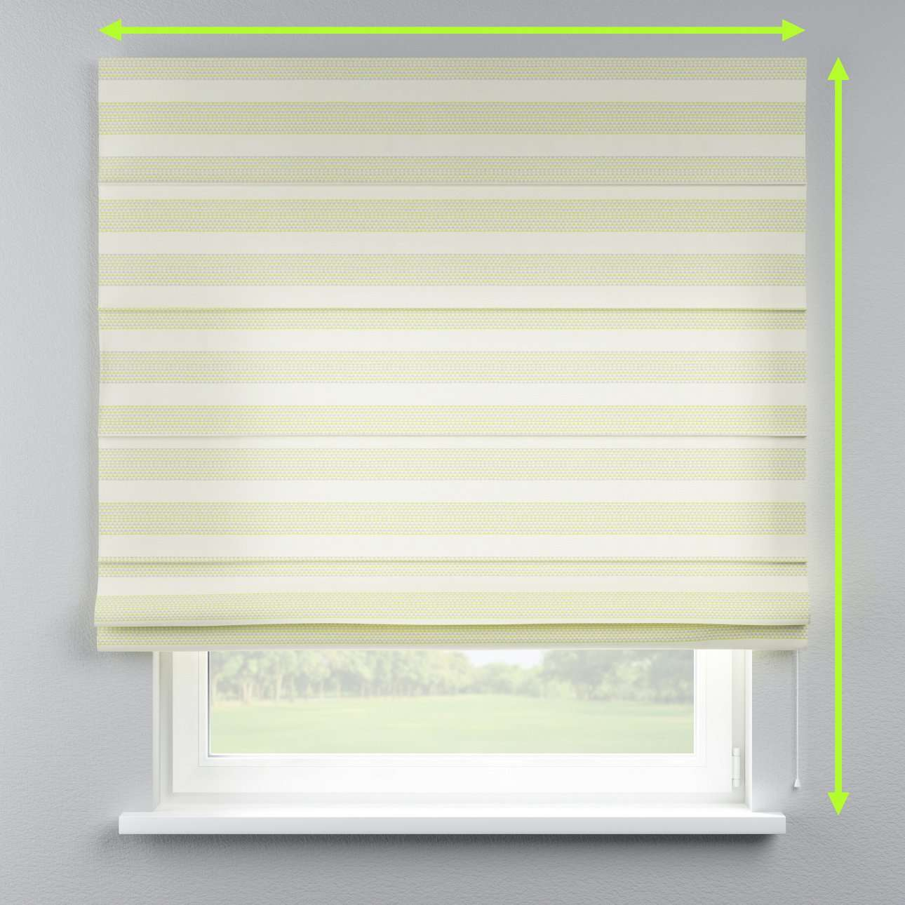 Lined roman blind in collection Rustica, fabric: 140-35