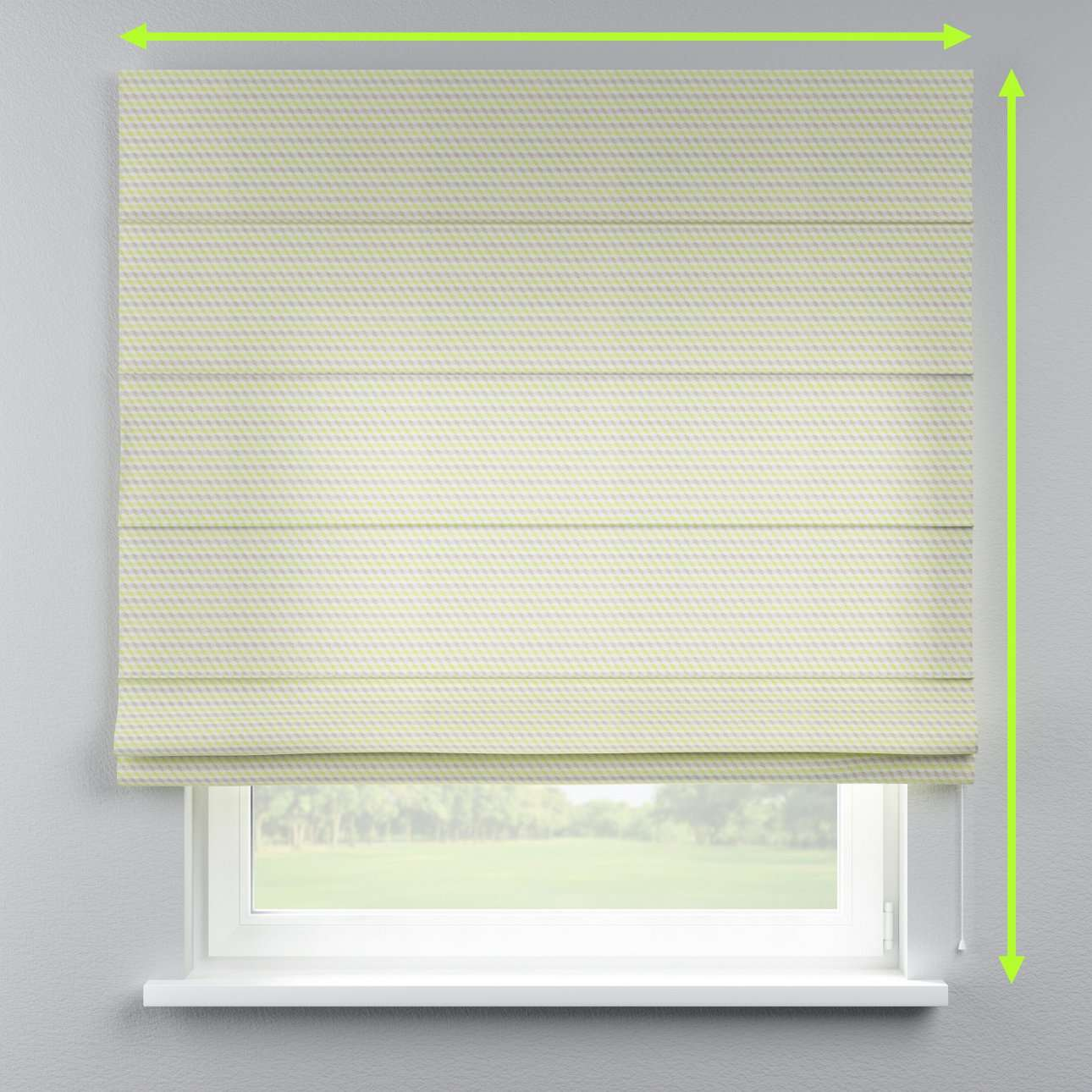 Lined roman blind in collection Rustica, fabric: 140-36