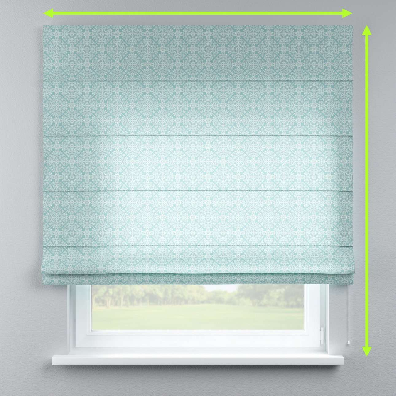 Lined roman blind in collection Flowers, fabric: 140-37