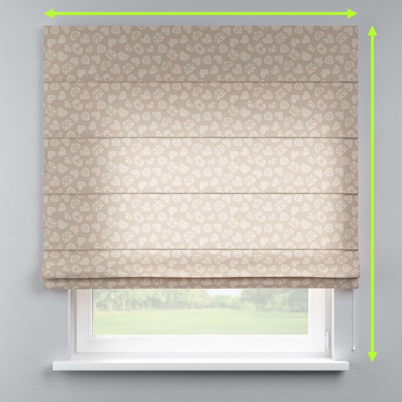 Lined roman blind in collection Flowers, fabric: 140-56