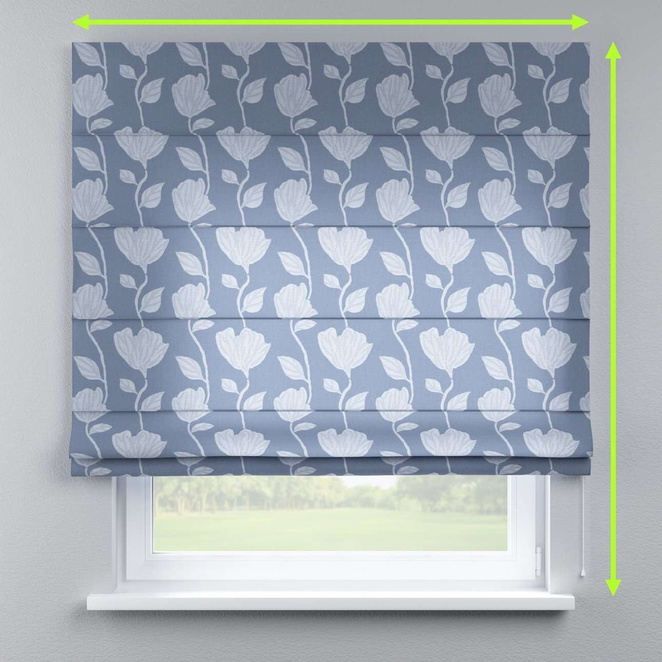 Lined roman blind in collection Venice, fabric: 140-61