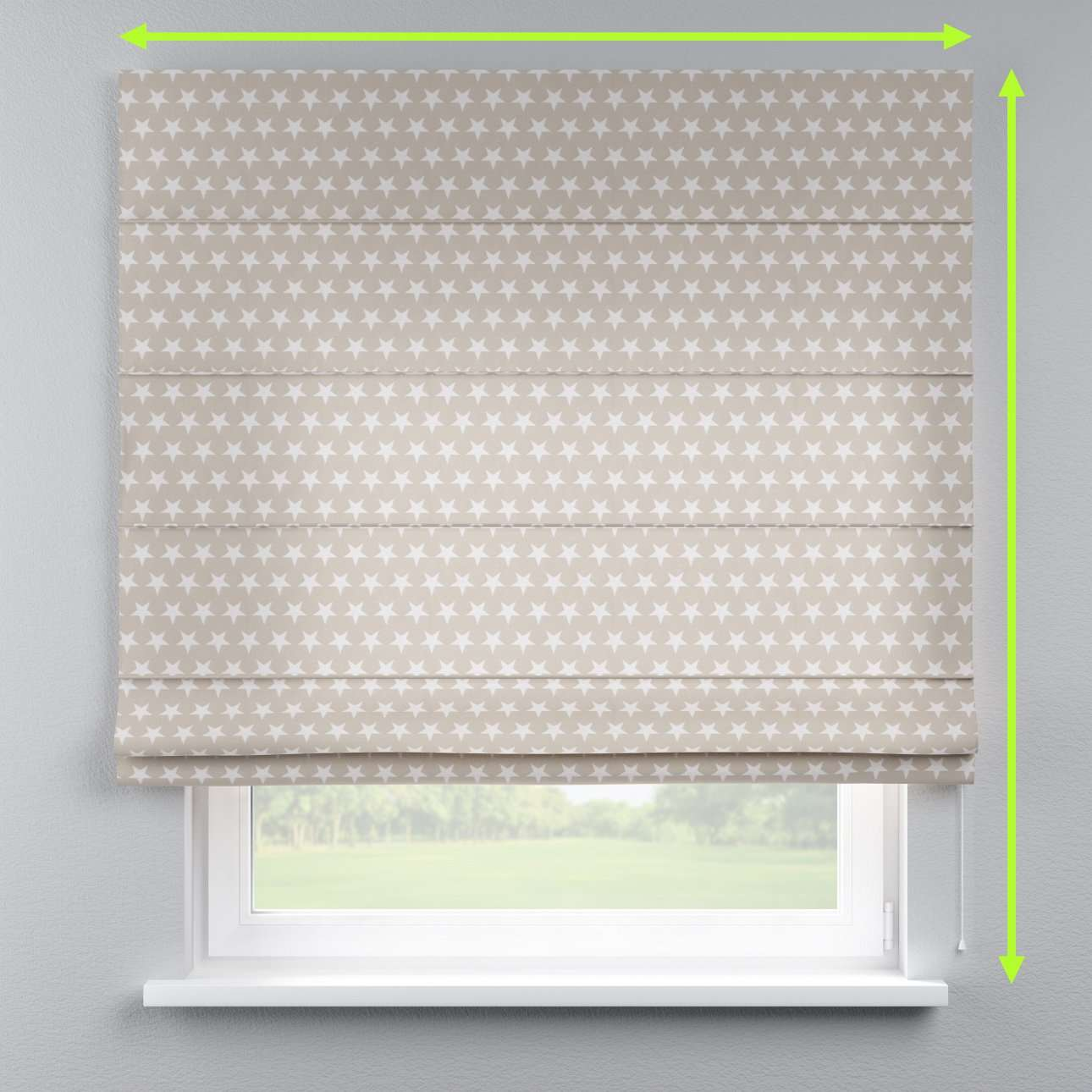 Lined roman blind in collection Marina, fabric: 140-62