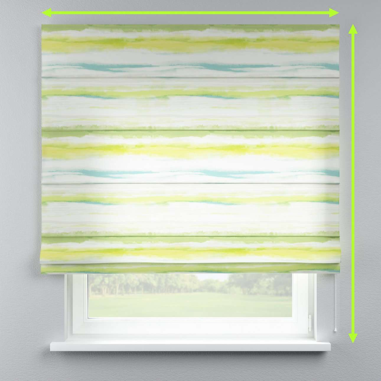 Lined roman blind in collection Aquarelle, fabric: 140-68