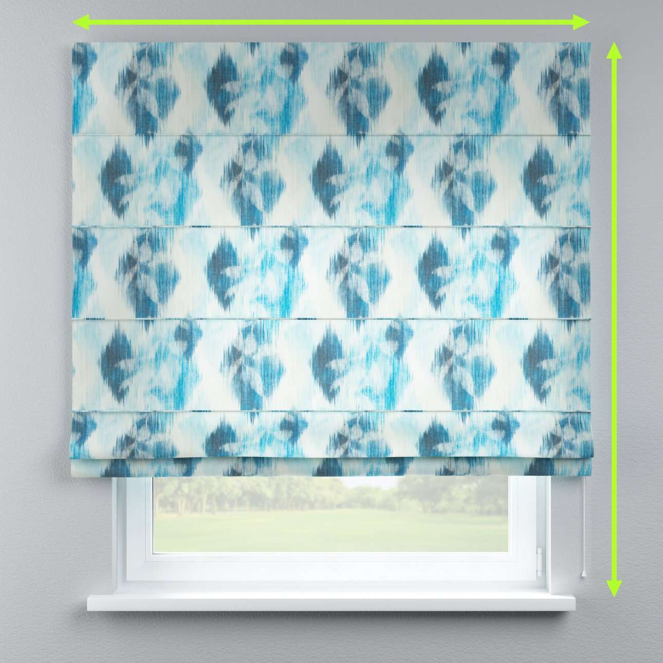 Lined roman blind in collection Aquarelle, fabric: 140-71